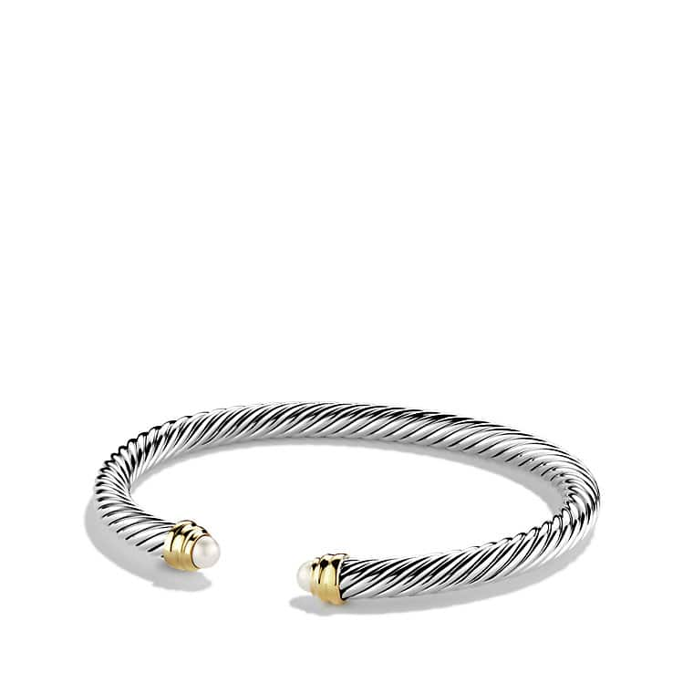 Cable Classics Bracelet with Pearls and 14K Gold