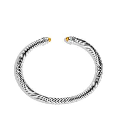 Cable Classics Bracelet with Citrine and Diamonds, 5mm