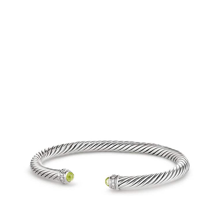 gold yurman prasiolite classics david bracelet yellow sterling cable silver