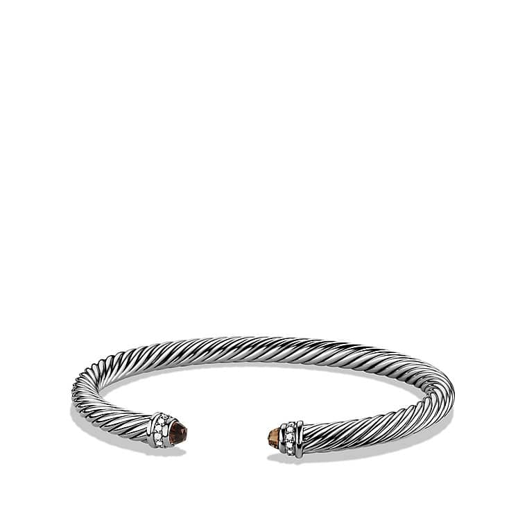 Cable Classics Bracelet with Smoky Quartz and Diamonds