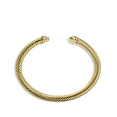 Cable Classics Bracelet with Diamonds in 18K Gold, 5mm