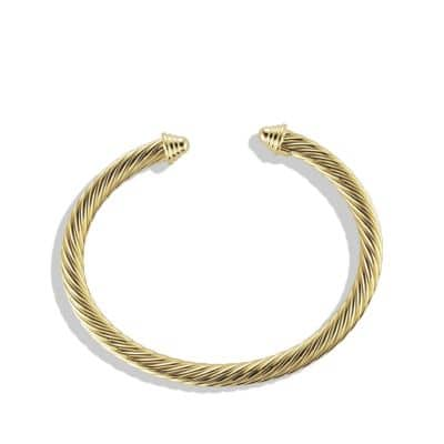 Cable Classics Bracelet in 18K Gold, 5mm