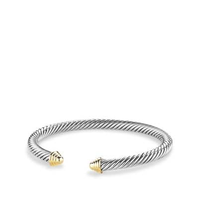 Cable Classics Bracelet with 14K Gold, 5mm