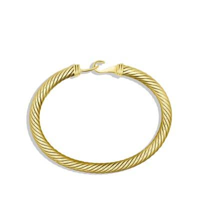 Cable Classic Buckle Bracelet in 18K Gold, 5mm