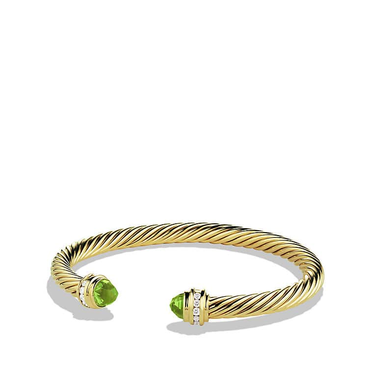 Bracelet with Peridot and Diamonds in 18K Gold