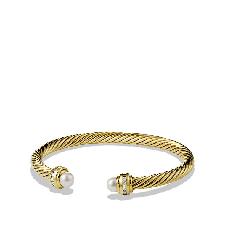 Bracelet with Pearl and Diamonds in 18K Gold