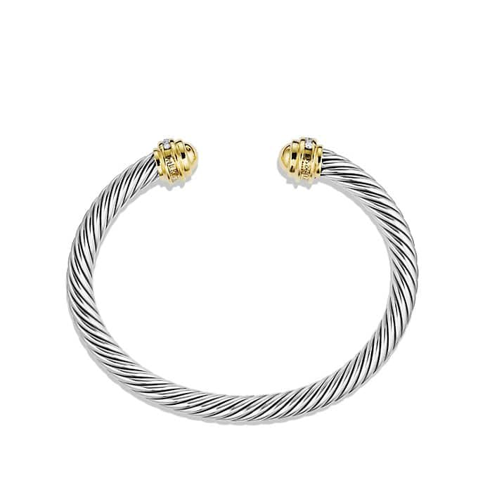 Cable Classics Bracelet with Diamonds, and Gold