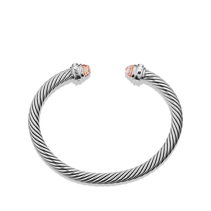 Cable Classics Bracelet with Morganite and Diamonds
