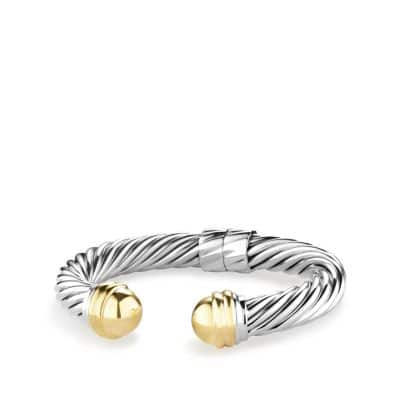 Cable Classics Bracelet with 14K Gold, 10mm