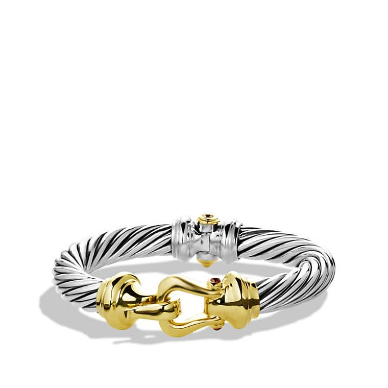 Cable Classic Bracelet with Gold, 10mm