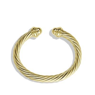 Cable Classics Bracelet in 18K Gold, 7mm