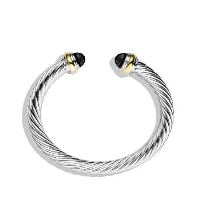 Cable Classics Bracelet with Black Onyx and 14K Gold, 7mm