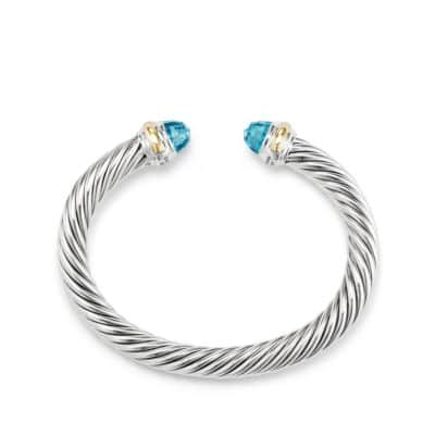 Bracelet with Blue topaz and 14K Gold