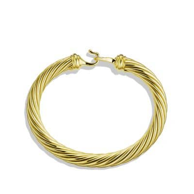 Cable Buckle Bracelet with Diamonds and Gold