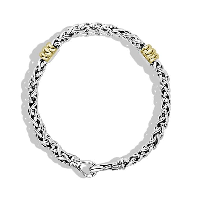 Chain Two-Station Bracelet with Gold