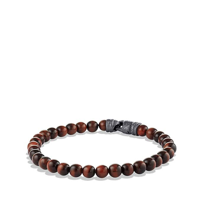 Spiritual Beads Bracelet with Red Tiger's Eye, 6mm