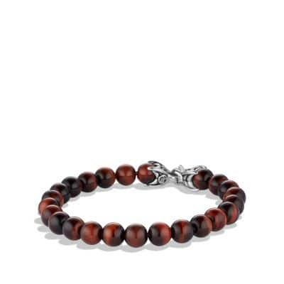Spiritual Beads Bracelet with Red Tiger's Eye, 8mm