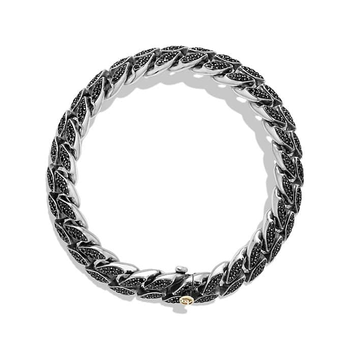 Pave Curb Chain Narrow Bracelet
