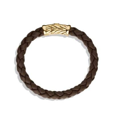 Chevron Bracelet in Brown and Gold