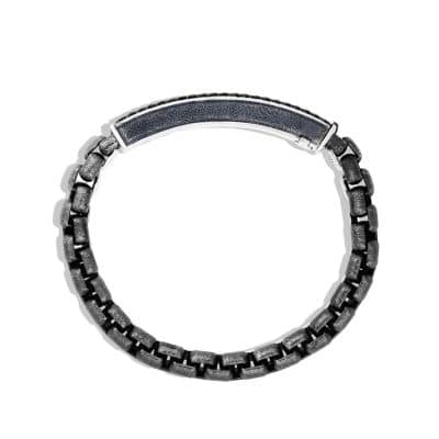 Pavé ID Bracelet with Black Diamonds
