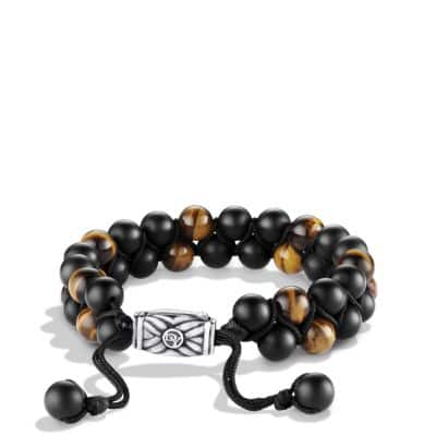 Spiritual Beads Two-Row Bracelet with Black Onyx and Tiger's Eye thumbnail