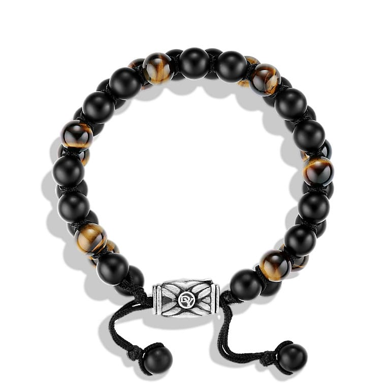 Spiritual Beads Two-Row Bracelet with Black Onyx and Tiger's Eye
