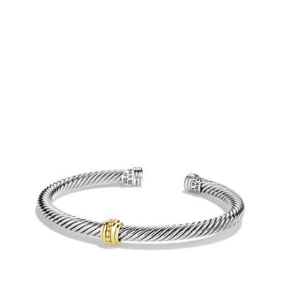 Cable Classics One-Station Bracelet with Gold