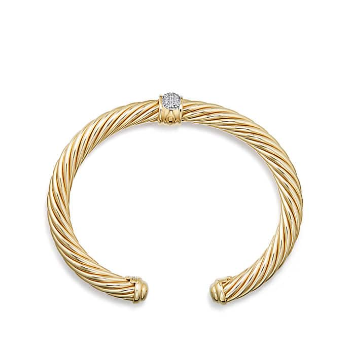Cable Classics Bracelet with Diamonds in Gold
