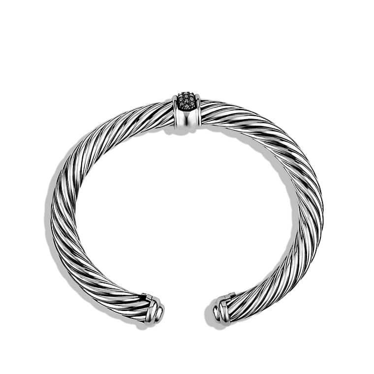 Cable Classics Bracelet with Black Diamonds, 7mm
