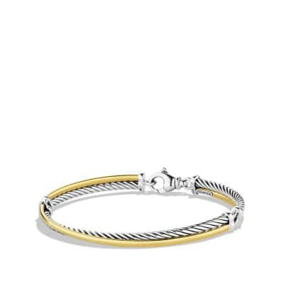 Crossover Bracelet with 18K Gold