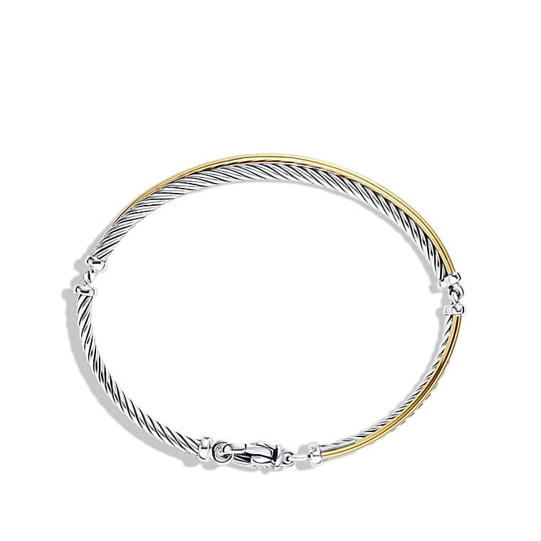 Crossover Bracelet with Gold