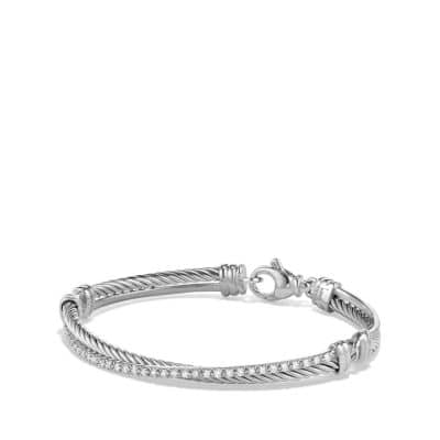 Crossover Bracelet with Diamonds