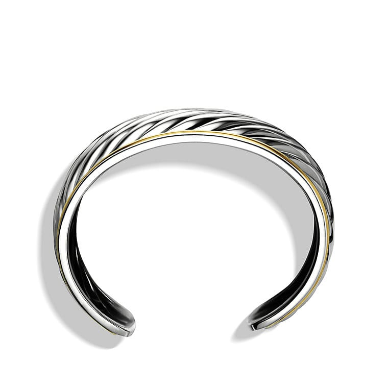 Sculpted Cable Cuff Bracelet with Gold