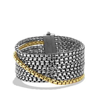 Box Chain Eight-Row Bracelet with 18K Gold, 32mm thumbnail