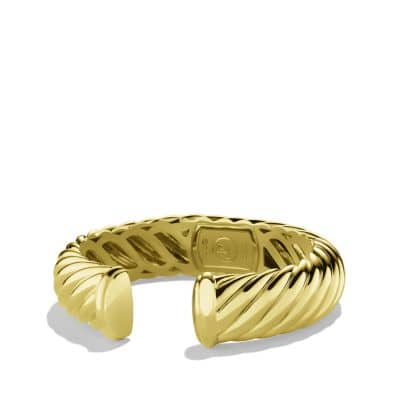 Sculpted Cable Cuff Bracelet in 18K Gold, 15mm