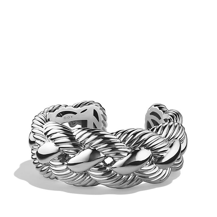 Woven Cable Wide Cuff Bracelet