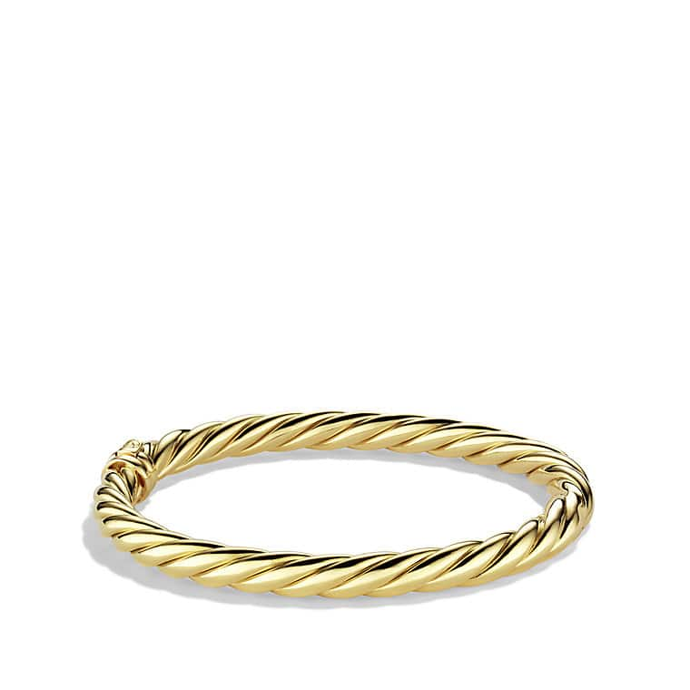 Sculpted Cable Bracelet in Gold