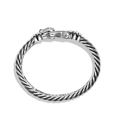 Cable Buckle Bracelet with Diamonds, 10mm