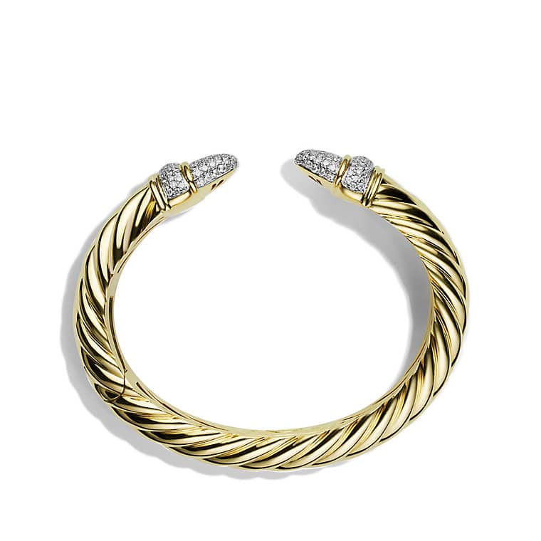 Waverly Cable Bracelet with Diamonds in Gold