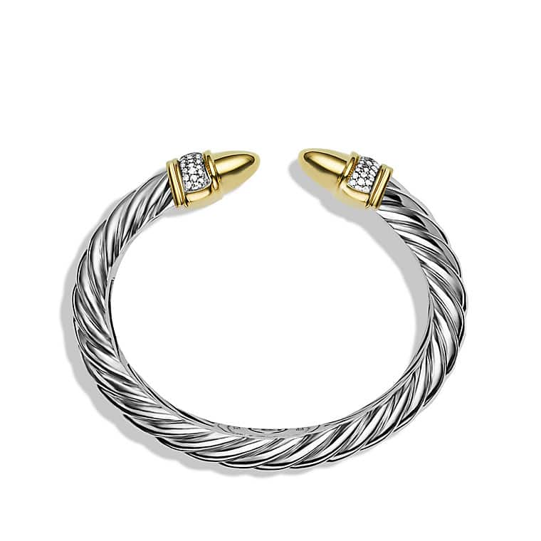 Waverly Cable Bracelet with Diamonds and Gold