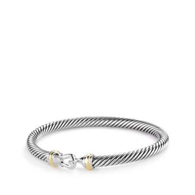 Cable Classic Buckle Bracelet with 18K Gold, 5mm