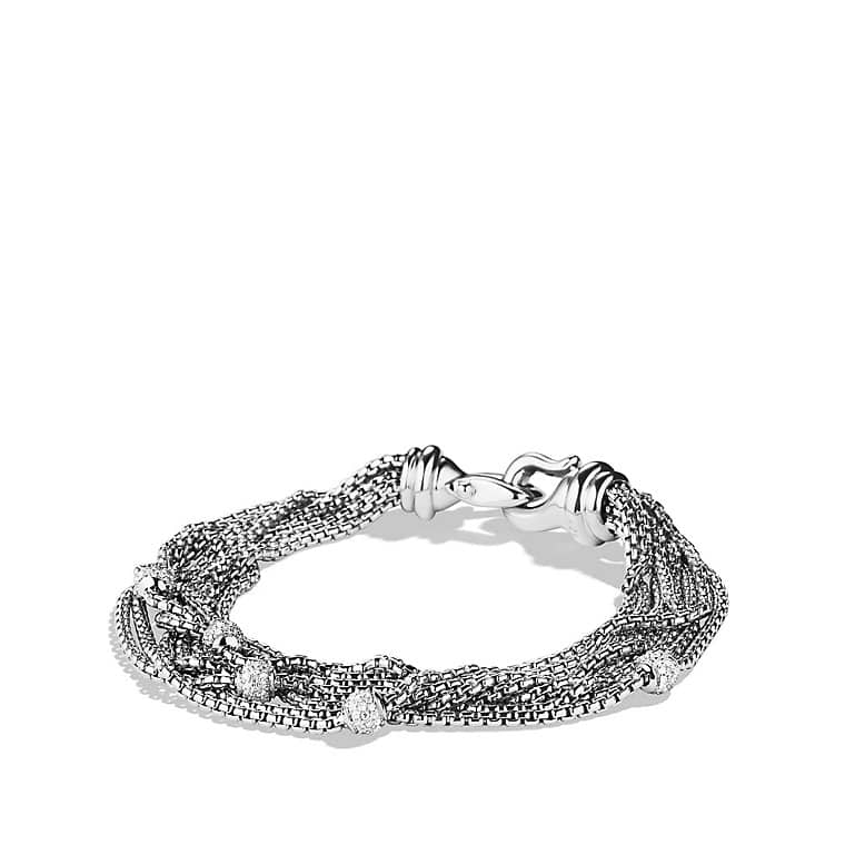 Eight-Row Chain Bracelet with Diamonds