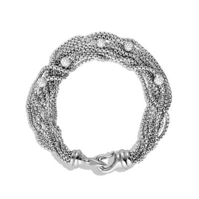 Eight-Row Chain Bracelet with Diamonds, 10mm