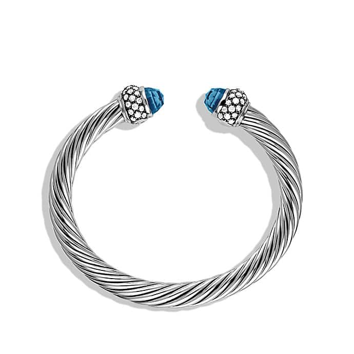 Cable Classics Bracelet with Hampton Blue Topaz and Diamonds