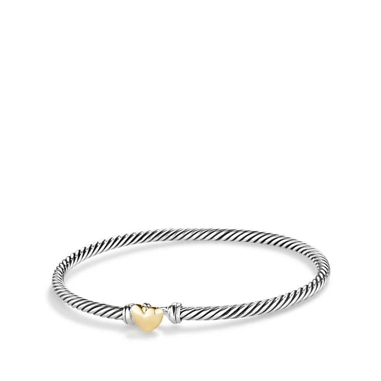 Heart Bracelet with 18K Gold