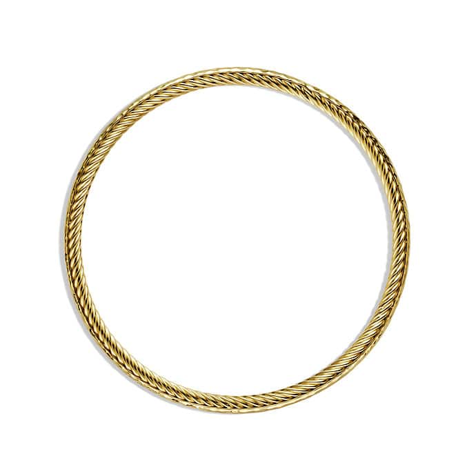 Cable Classics Hammered Bangle in Gold