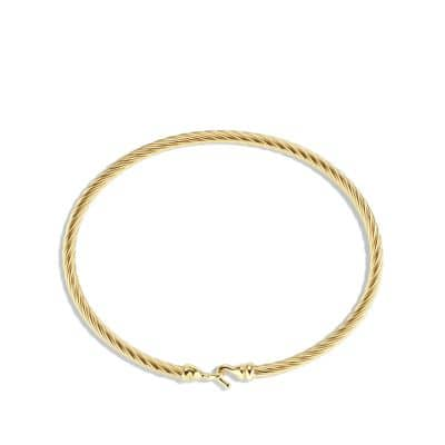 Cable Collectibles Buckle Bracelet in 18K Gold, 3mm