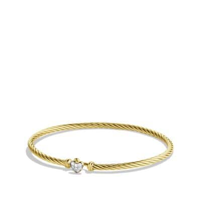 Cable Collectibles Heart Bracelet with Diamonds in Gold