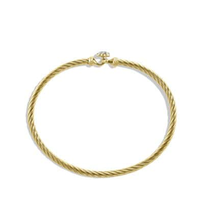 Heart Bracelet with Diamonds in 18K Gold