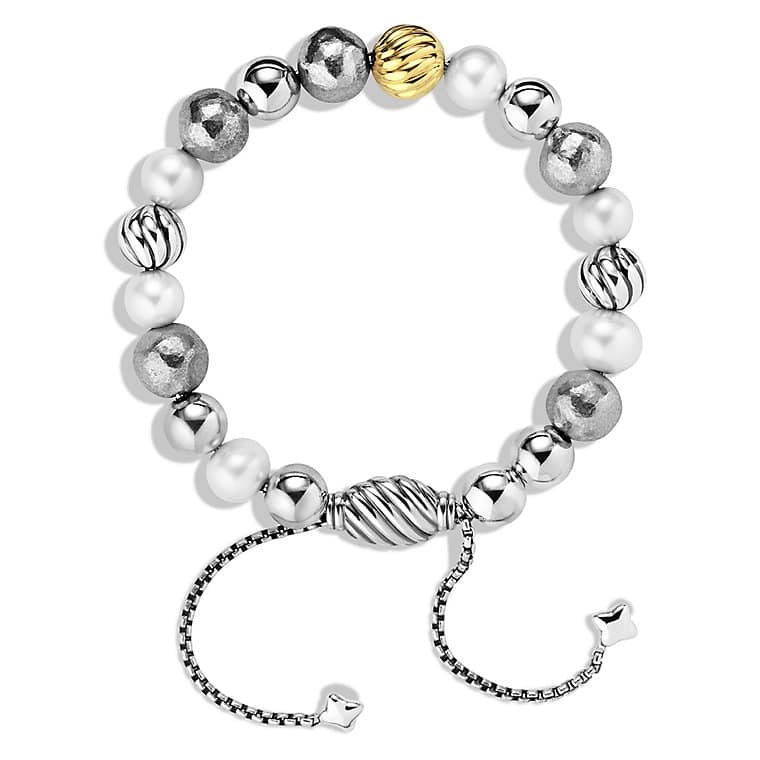 DY Elements Bracelet with Pearls and Gold
